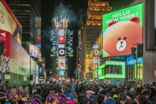 LINE FRIENDS入驻纽约时代广场 今年7月开门迎客