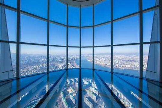 首尔乐天世界大厦瞭望台SEOUL SKY即将开放 为世界第三高