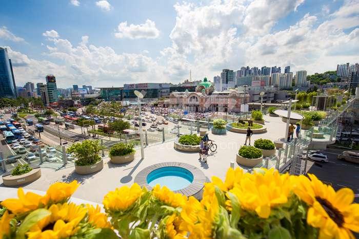 从废弃高架到空中花园—— 首尔路7017