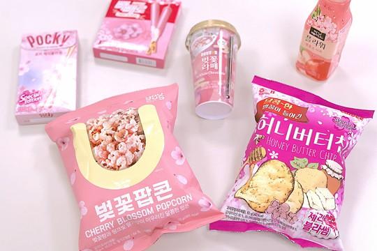"""韩国便利店里的樱花""""盛宴"""""""