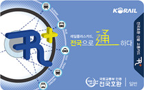 韩国全国通用交通卡RAIL PLUS
