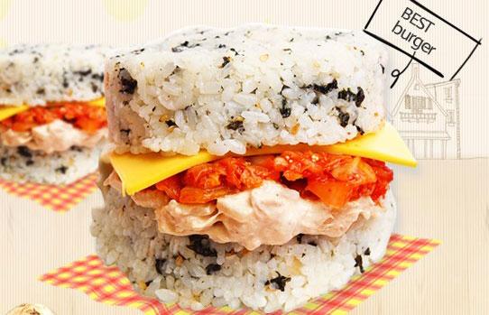 韩国国民快餐米汉堡美食店 :Bon Gousse米汉堡