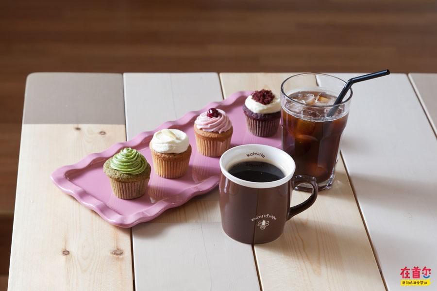 饕餮美食 人气商家 杯子蛋糕甜蜜小象   可爱的卡通logo,粉嫩嫩的装修