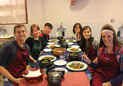 韩国传统料理制作 趣味体验