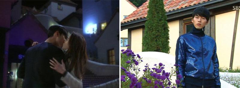 韩剧《来自星星的你》剧照(左)和韩剧《秘密花园》剧照(右)