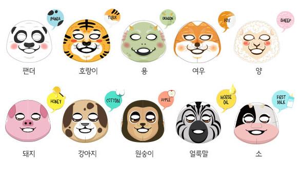 韩国大热动物面膜知多少?
