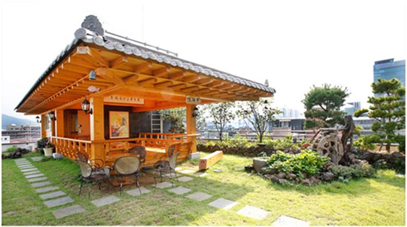 韩国的屋顶庭院